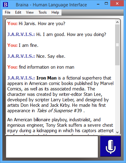 Jarvis Voice Command Software for Windows PC