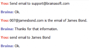 Send Email - Braina